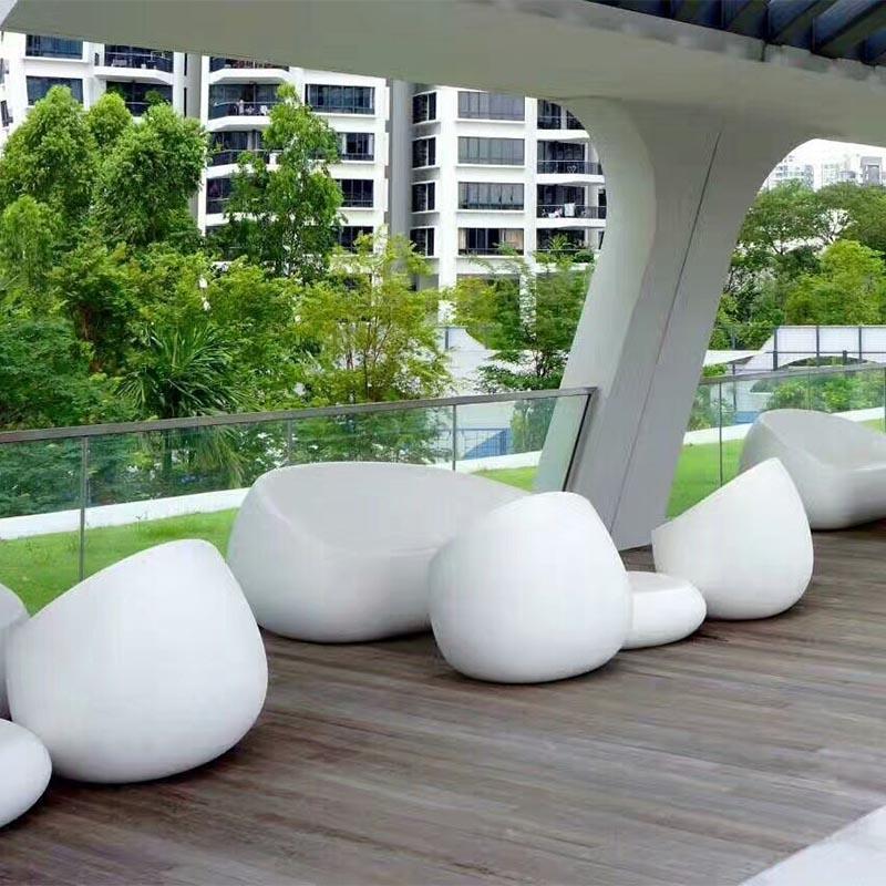 玻璃钢雕塑户外休闲座椅造型