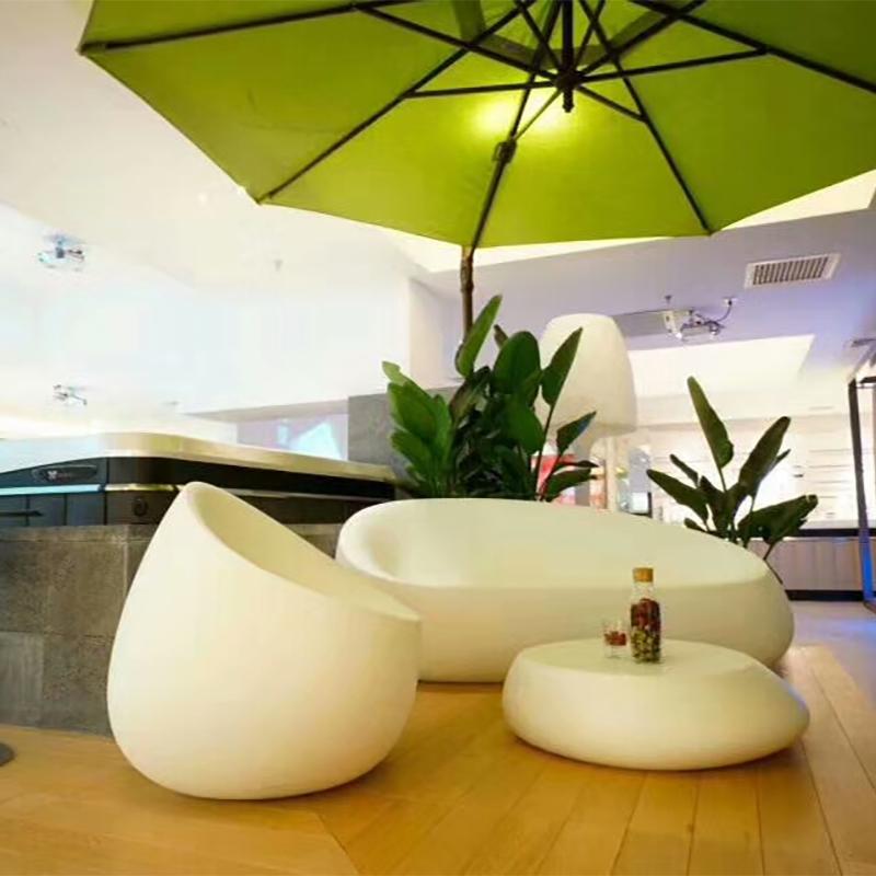 许昌玻璃钢雕塑休闲座椅造型