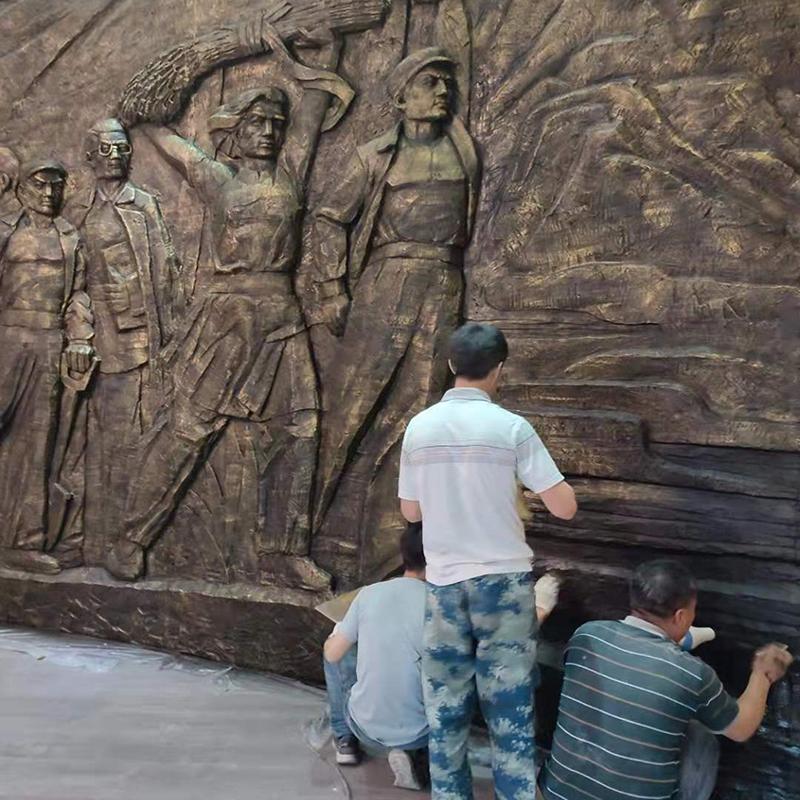 淮海战役浮雕做仿铜效果